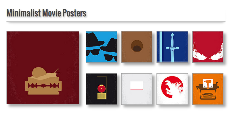 Chungkong Art Minimalist Movie Posters